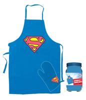 SD Toys Superman cooking apron with oven mitt Logo