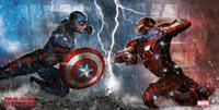SD Toys Captain America Civil War Glass Poster Duel 60 x 30 cm