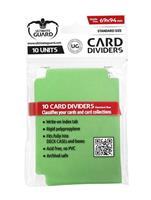 Card Dividers Standard Size Green (10)