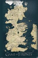 Pyramid International Game Of Thrones Poster Pack Map 61 x 91 cm (5)