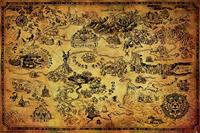Pyramid International Legend of Zelda Poster Pack Hyrule Map 61 x 91 cm (5)
