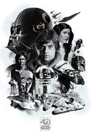 Pyramid International Star Wars Poster Pack 40th Anniversary (Montage) 61 x 91 cm (5)