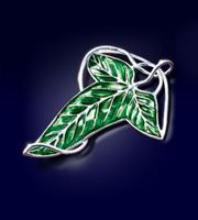 Noble Collection Lord of the Rings Brooch Elven Leaf Brooch (silver plated)