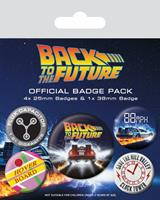 Pyramid International Back to the Future Pin Badges 5-Pack DeLorean