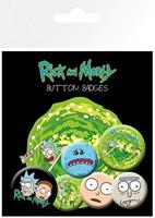 GYE Rick and Morty Pin Badges 6-Pack Characters