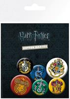GYE Harry Potter Pin Badges 6-Pack Crests