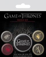Pyramid International Game Of Thrones Pin Badges 5-Pack Great Houses