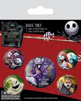 Pyramid International Nightmare Before Christmas Pin Badges 5-Pack Characters