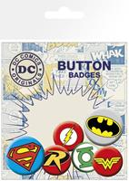 GYE DC Comics Pin Badges 6-Pack Logos