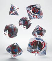 Q Workshop Classic RPG Dice Set translucent & blue-red (7)