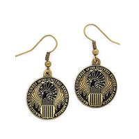 Carat Shop, The Fantastic Beasts Magical Congress Earrings (antique brass plated)