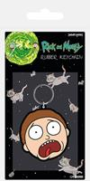 Pyramid International Rick & Morty Rubber Keychain Morty Terrified Face 6 cm
