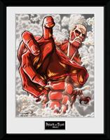 GYE Attack on Titan Season 2 Framed Poster Colossus Titan 45 x 34 cm