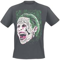 Suicide Squad Joker Tattooed Face T-Shirt M
