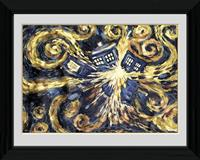 poster in lijst Doctor Who Exploding Tardis 30 x 40 cm