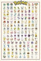 Pokémon Pokemon Kanto 151 Poster 61x91,5cm