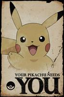 Pokémon Pokemon Pikachu Needs You Poster 61x91,5cm