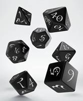 Q Workshop Classic RPG Dice Set black & white (7)