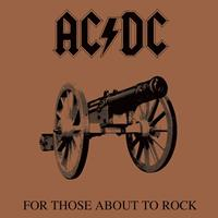 Pyramid International AC/DC Framed Canvas Print For Those About To Rock 40 x 40 cm