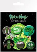 GYE Rick and Morty Pin Badges 6-Pack Pickle Rick