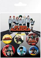 GYE My Hero Academia Pin Badges 6-Pack Mix