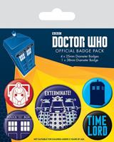 Pyramid International Doctor Who Pin Badges 5-Pack Exterminate