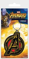 Pyramid International Avengers Infinity War Rubber Keychain Avengers Symbol 6 cm