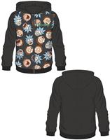 Difuzed Rick and Morty Hooded Sweater Rick & Morty Pattern Size L