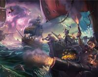 Iron Gut Publishing Sea of Thieves Art Print Sea Fight 35 x 28 cm