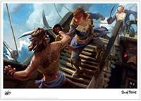 Iron Gut Publishing Sea of Thieves Art Print Battle 42 x 30 cm