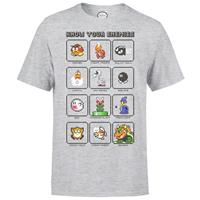 THG Nintendo T-Shirt Mario Know Your Enemy Size L
