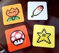 Loot Crate Super Mario World Coaster 4-Pack Power-Ups Lootcrate Exclusive