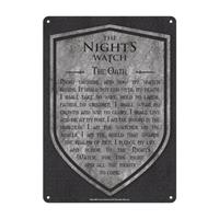 Half Moon Bay Game of Thrones Tin Sign Nights Watch 21 x 15 cm