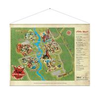 Gaya Entertainment Fallout Wallscroll Nuka World Map