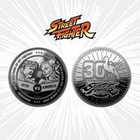 Iron Gut Publishing Street Fighter Collectable Coin 30th Anniversary Ryu vs Chun-Li Silver Edition