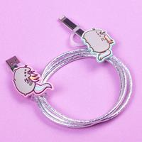 Thumbs Up Pusheen USB Charging Cable 2in1 Unicorn