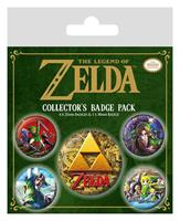 Pyramid International Legend of Zelda Pin Badges 5-Pack Classics