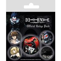 Pyramid International Death Note Pin Badges 5-Pack Characters