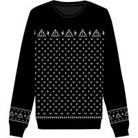Cotton Division Harry Potter Christmas Knitted Sweater Deathly Hallows Size XL