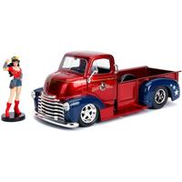 Jada Toys DC Bombshells Diecast Model Hollywood Rides 1/24 1952 Checy COE with Wonder Woman Figure