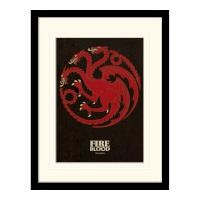 Pyramid International Game of Thrones Targaryen Mounted 30 x 40cm Print