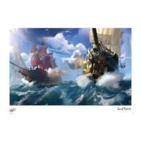 Iron Gut Publishing Sea Of Thieves - Broadsides at noon Limited Edition Art Print Measures 41.91 x 29.72cm