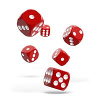 Oakie Doakie Dice D6 Dice 16 mm Solid - Red (12)