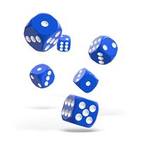 Oakie Doakie Dice D6 Dice 16 mm Solid - Blue (12)