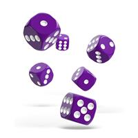Oakie Doakie Dice D6 Dice 16 mm Solid - Purple (12)