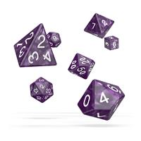 Oakie Doakie Dice RPG Set Marble - Purple (7)