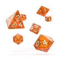 Oakie Doakie Dice RPG Set Translucent - Orange (7)