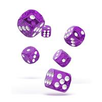 Oakie Doakie Dice D6 Dice 16 mm Speckled - Purple (12)