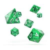 Oakie Doakie Dice RPG Set Speckled - Green (7)