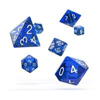 Oakie Doakie Dice RPG Set Speckled - Blue (7)